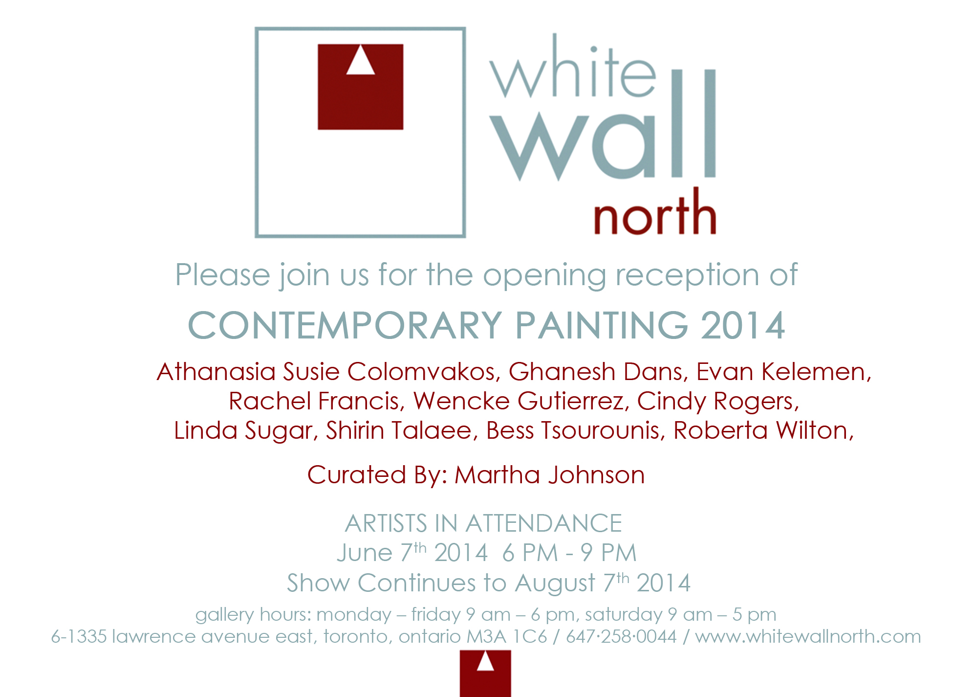 Contemporary Art Invite - Text